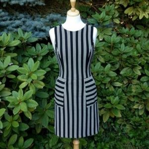 Lark & Ro Dress Black & White Striped Sleeveless